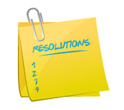 Resolutions list memo post illustration Stock Images