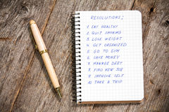 Resolutions listed in the notepad Royalty Free Stock Images