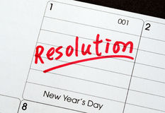 Resolutions for the New Year Stock Images