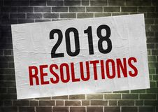 2018 Resolutions - poster concept. Illustration Royalty Free Stock Images