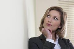Resoluto/motivou a mulher de negócios Imagem de Stock Royalty Free