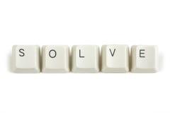 Resolva das chaves de teclado dispersadas no branco fotografia de stock royalty free