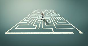 Resolva o labirinto fotografia de stock royalty free