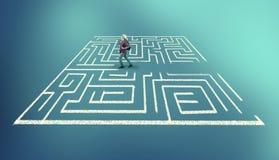 Resolva o labirinto fotografia de stock