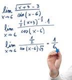 Resolvendo a equação do limite. Fotografia de Stock Royalty Free