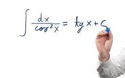 Resolvendo a equação integral. foto de stock