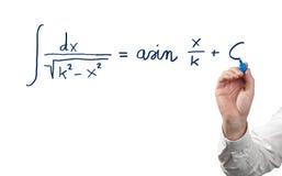 Resolvendo a equação integral. fotos de stock royalty free