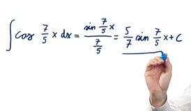 Resolvendo a equação integral foto de stock royalty free