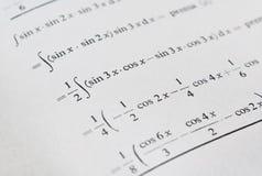 Resolvendo matemática avançada foto de stock