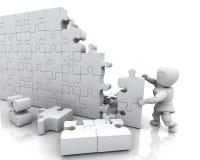 Resolvendo o enigma de serra de vaivém ilustração stock