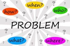 Resolvendo o problema Imagens de Stock