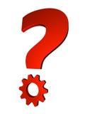 Resolvendo a pergunta Imagens de Stock Royalty Free