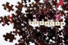 Resolvendo problemas complexos Enigmas de montagem Oportunidades fora da situação do problema imagem de stock royalty free