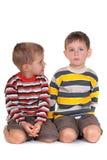 Resolvendo problemas criançolas Fotos de Stock