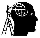 Resolvendo problemas mentais Foto de Stock Royalty Free