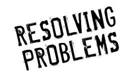 Resolving Problems rubber stamp Stock Photos