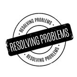 Resolving Problems rubber stamp Royalty Free Stock Image
