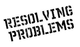 Resolving Problems rubber stamp. Grunge design with dust scratches. Effects can be easily removed for a clean, crisp look. Color is easily changed royalty free stock images
