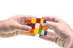 Resolving Rubik's cube Stock Image