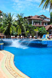 Resort. A swimming pool and resort stock photography