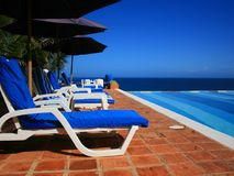 Resort. A nice view of the caribean sea Royalty Free Stock Image