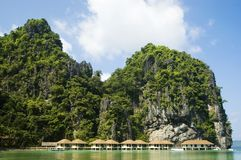Resort. Water cottages in Palawan, Philippines Stock Image