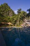 Resort. Swimming pool in resort, Palawan, Philippines Royalty Free Stock Photography
