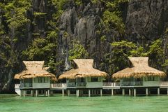 Resort. Cottage on stilts in Palawan, Philippines Royalty Free Stock Image