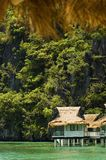 Resort. Cottage on stilts in Palawan, Philippines Stock Images