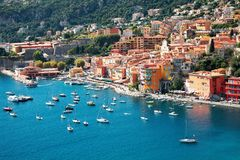 Resort. View of luxury resort and bay of Cote d'Azur in France Royalty Free Stock Images