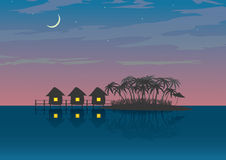 Resort. The figure shows the bungalows Royalty Free Stock Image