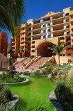 Resort. Typical mexican architecture from cabo san lucas mexico Royalty Free Stock Photography