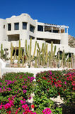 Resort. Typical mexican architecture from cabo san lucas mexico Royalty Free Stock Image