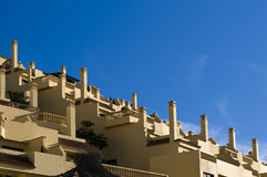 Resort. In spain. View of hotel complex. Playa de las Americas stock images