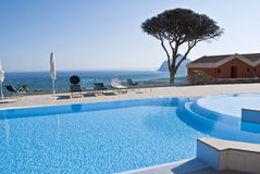 Resort. Swimming pool of a resort in sicily Stock Photo