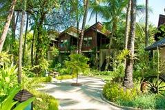 Resort. Stylish luxury resort in Burma, in Ngapali, Myanmar Royalty Free Stock Images