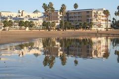 Resort. Hotel along the bay in Marina Del Rey, California Royalty Free Stock Photography
