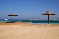 Resort. Beach at resort - Egypt Stock Image