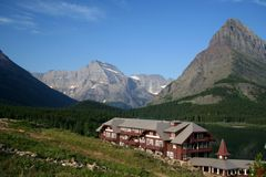 Resort. Mountain resort in glacier national park Stock Image