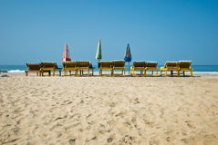 Resort. Travel resort ocean beach banch Royalty Free Stock Photography