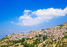 Resort of Arachova on mountain Parnassos, Greece Royalty Free Stock Images