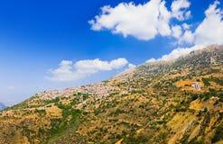 Resort of Arachova on mountain Parnassos, Greece. Travel background Royalty Free Stock Photos