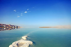Resort areas. Dead Sea landscape pretty clean in the summer day Royalty Free Stock Photo