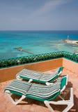 Resort Balcony Lounge Chairs Stock Photos