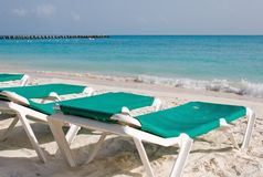 Resort Balcony Lounge Chairs Royalty Free Stock Photography