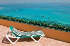 Resort Balcony Lounge Chairs Royalty Free Stock Photo