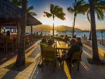 Resort bar at sunset Stock Photography