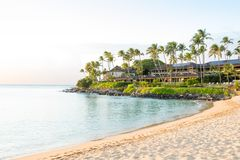 Resort in a bay of Maui, Hawaii Stock Images