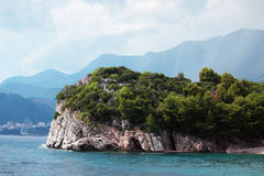 Resort beach on the Adriatic sea, Montenegro Royalty Free Stock Photography