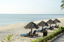 Resort Beach at Cherating. Teluk chempedak, malaysia Royalty Free Stock Photo